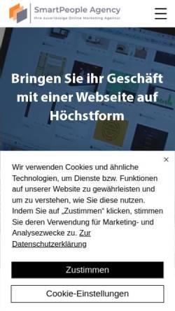Vorschau der mobilen Webseite www.smartpeople-agency.de, Smartpeople Agency