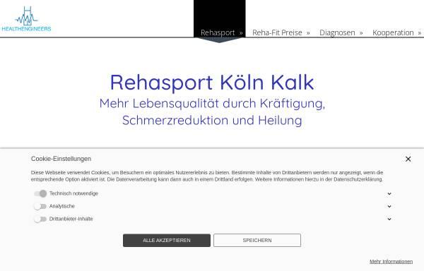 Vorschau von www.reha-sport-koeln.de, Rehasport im Healthengineers Köln Kalk