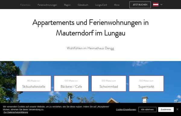 Vorschau von www.heimathaus-dengg.at, Heimathaus Dengg - Appartements