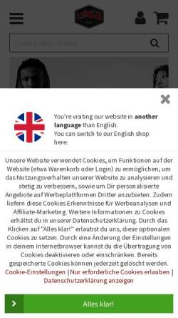 Vorschau der mobilen Webseite www.titus.de, Titus Shop