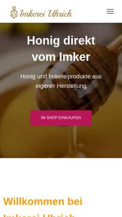 Vorschau der mobilen Webseite imkerei-uhrich.de, Imkerei Uhrich