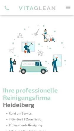 Vorschau der mobilen Webseite vitaclean-heidelberg.de, Vita Clean Gebäudereinigung