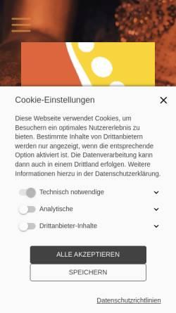 Vorschau der mobilen Webseite www.osteopathie-klein.com, Praxis für Osteopathie u. Angew. Kinesiologie Hagen Klein