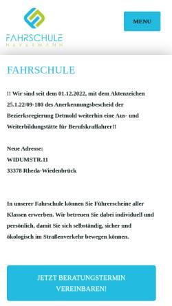 Vorschau der mobilen Webseite www.fahrschule-nevermann.com, Fahrschule Nevermann