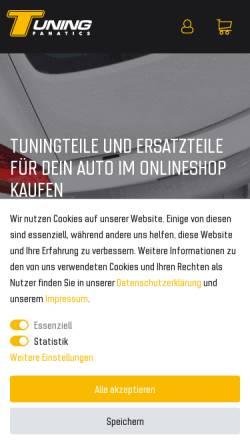 Vorschau der mobilen Webseite www.tuning-fanatics.de, Simply NetTrade GmbH