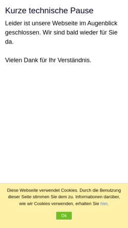 Vorschau der mobilen Webseite www.mafi-reisen.com, Mafi Reisen