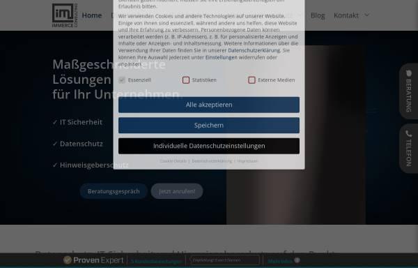 Vorschau von www.immerce-consulting.de, Immerce Consulting GmbH