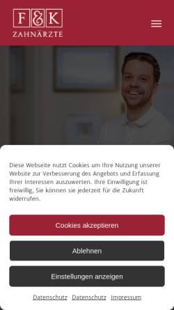 Vorschau der mobilen Webseite www.dr-fornefett.de, Zahnarztpraxis Dr. Daniel Fornefett & Kollegen