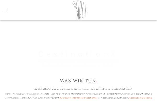Vorschau von www.destinationx.marketing, Destination X