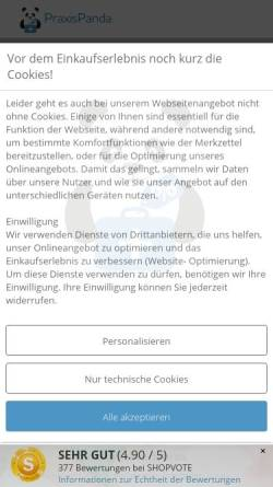 Vorschau der mobilen Webseite www.praxispanda.de, PraxisPanda