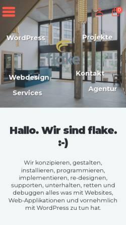 Vorschau der mobilen Webseite www.flake.ch, flake GmbH