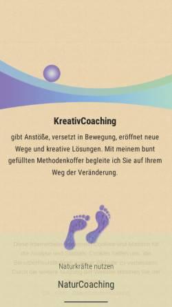 Vorschau der mobilen Webseite kreativcoaching-dresden.de, KreativCoaching Dresden - Kathleen Beuschel