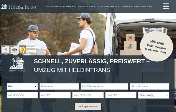 Vorschau von heldintrans.de, Umzug Berlin - HeldinTrans e. K.