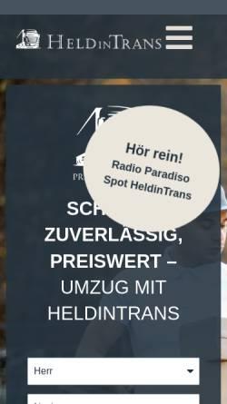 Vorschau der mobilen Webseite heldintrans.de, Umzug Berlin - HeldinTrans e. K.