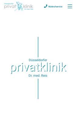 Vorschau der mobilen Webseite duesseldorfer-privatklinik.de, Düsseldorfer Privatklinik Dr. med. Christoph Reis