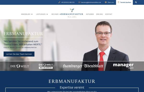 Vorschau von erbmanufaktur.de, Erbmanufaktur
