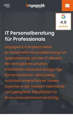 Vorschau der mobilen Webseite www.engaged-company.com, engaged & Company GmbH