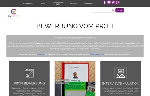 Vorschau von www.cvexpert.de, CV Expert Bewerbungsberatung