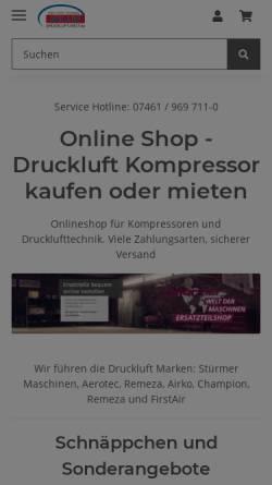 Vorschau der mobilen Webseite druckluft-welt.de, Müller Drucklufttechnik GmbH