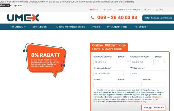 Vorschau von www.umex-umzuege.de, Umzüge mit Kompetent & Erfahrung