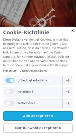 Vorschau der mobilen Webseite www.dudelsackschule-dresden.de, Dudelsackschule Dresden