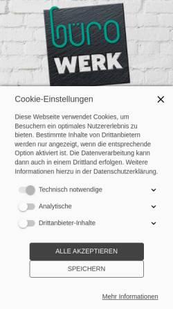 Vorschau der mobilen Webseite www.buerowerk-dortmund.de, büroWERK Dortmund