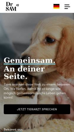 Vorschau der mobilen Webseite www.drsam.de, Dr. SAM Germany GmbH