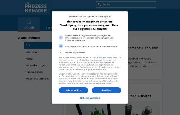 Vorschau von der-prozessmanager.de, Der ProzessmanagerGmbH