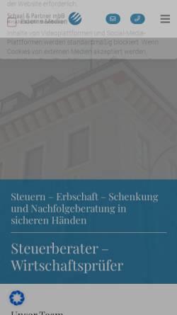 Vorschau der mobilen Webseite www.schaalundpartner.de, Schaal und Partner mbH