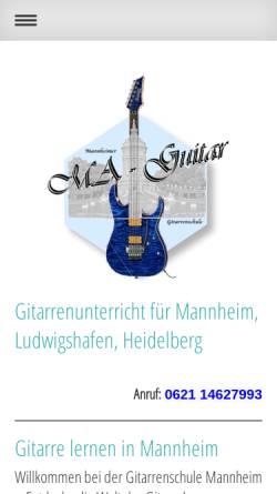 Vorschau der mobilen Webseite www.ma-guitar.de, Gitarrenschule Ma-Guitar