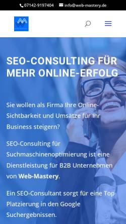 Vorschau der mobilen Webseite www.web-mastery.de, Web-Mastery