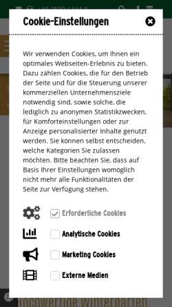 Vorschau der mobilen Webseite www.schlagheck-wintergarten.de, Schlagheck GmbH