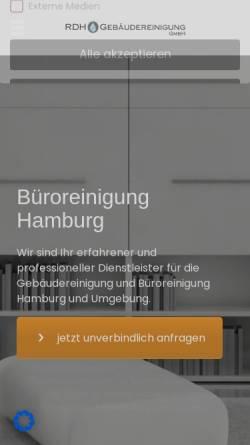 Vorschau der mobilen Webseite www.hamburg-reinigungsdienst.de, RDH Gebäudereinigung Hamburg