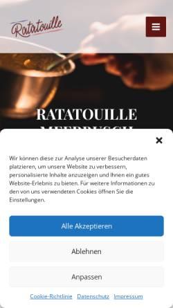 Vorschau der mobilen Webseite ratatouille-in-duesseldorf.de, Ratatouille