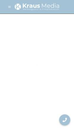 Vorschau der mobilen Webseite kraus-media.de, Kraus Media