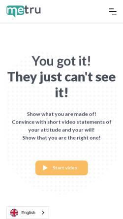 Vorschau der mobilen Webseite www.metru.io, metru GmbH
