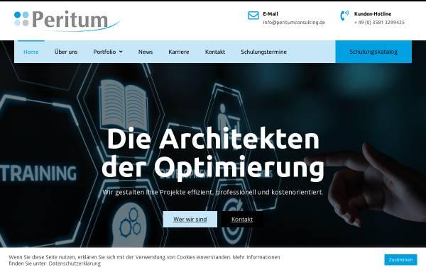 Vorschau von peritumconsulting.de, Peritum GmbH