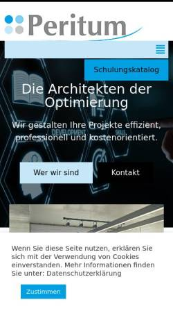 Vorschau der mobilen Webseite peritumconsulting.de, Peritum GmbH