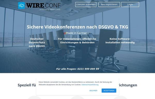 Vorschau von www.wireconf.de, WIRECONF - DALASON GmbH