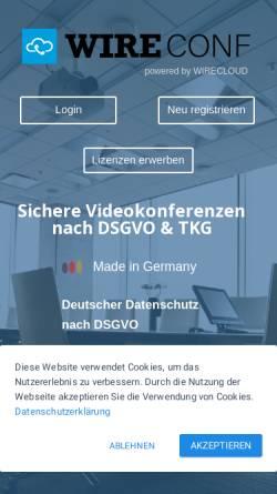 Vorschau der mobilen Webseite www.wireconf.de, WIRECONF - DALASON GmbH