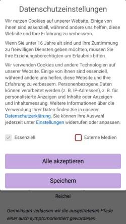 Vorschau der mobilen Webseite www.naturheilpraxis-reichel.de, Naturheilpraxis Reichel