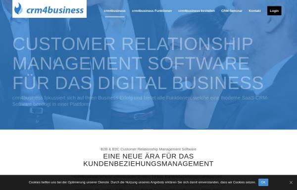 Vorschau von crm4business.de, crm4business