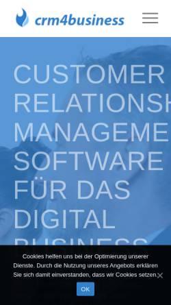 Vorschau der mobilen Webseite crm4business.de, crm4business