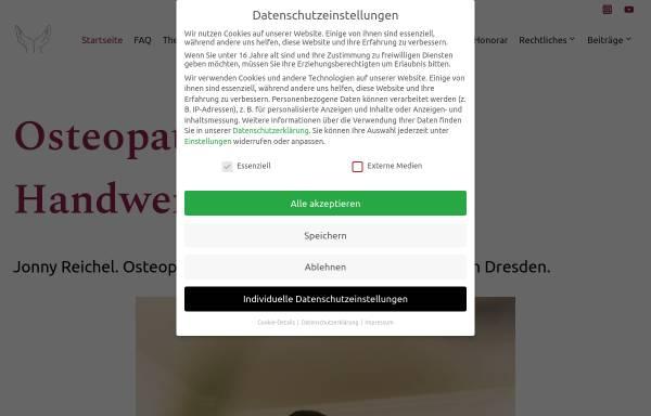 Vorschau von jonny-reichel.de, Osteopathie Reichel