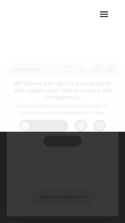 Vorschau der mobilen Webseite www.truecanvas.at, True Canvas