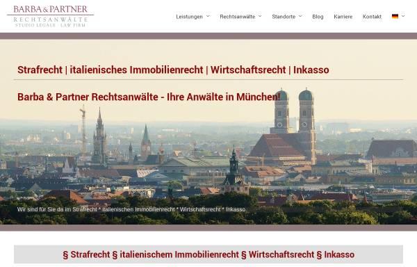 Vorschau von www.barba-legal.com, Barba & Partner Rechtsanwälte
