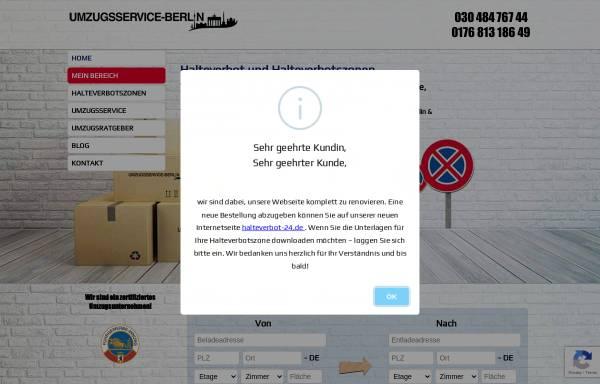 Vorschau von umzugsservice-berlin.com, Halteverbot Berlin - Umzugservice-Berlin UG