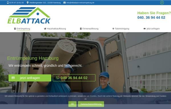 Vorschau von elbattack-entruempelung.de, Entrümpelung - ElbAttack