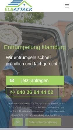 Vorschau der mobilen Webseite elbattack-entruempelung.de, Entrümpelung - ElbAttack