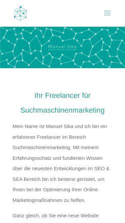 Vorschau der mobilen Webseite onlinemarketing-expert.com, Manuel Sika - SEO Freelancer